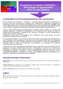 thumbnail of Temps d'information programme Européen ERASMUS +